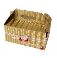 Poročna škatla za pecivo - zlata