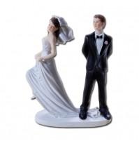 Poročni par - smešen/na podstavku 1