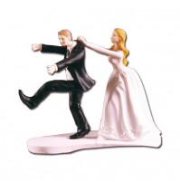 Poročni par - smešen/na podstavku 2