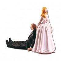 Poročna figura - nevesta in ženin - šaljiv