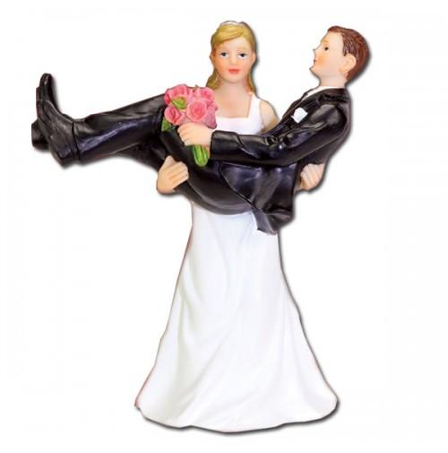 Poročna figura - nevesta in ženin - smešni