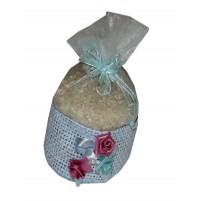 Poročni mošnjiček za riž - moder