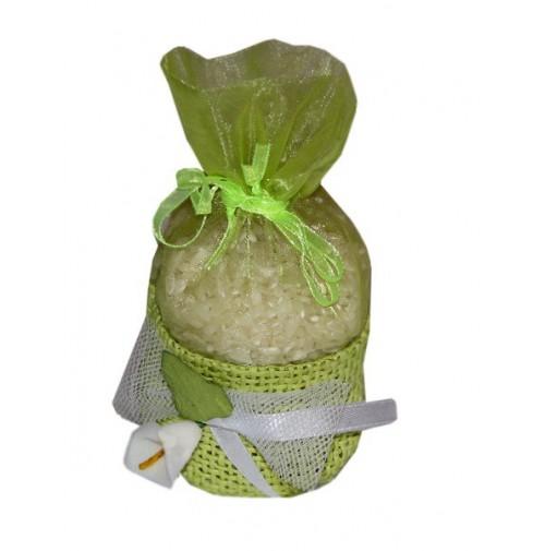 Poročni mošnjiček za riž - zelen