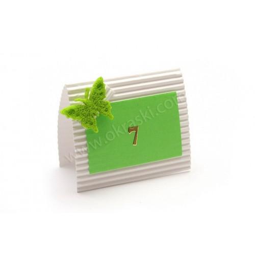 Kartica za mizo - zelena