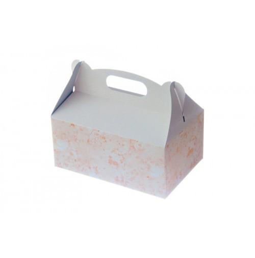 Škatlja za pecivo - oranžna - tiskana