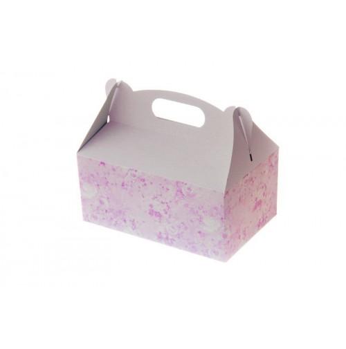 Škatlja za pecivo - pink - tiskana