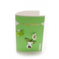 Vabilo - kala - belo/zeleno