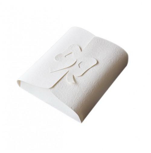 Poročna škatla za pecivo - bež - metulj