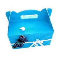 Poročna škatla za pecivo - metulj/modra 2