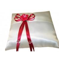 Poročna blazinica-rdeča/kvadrat 1