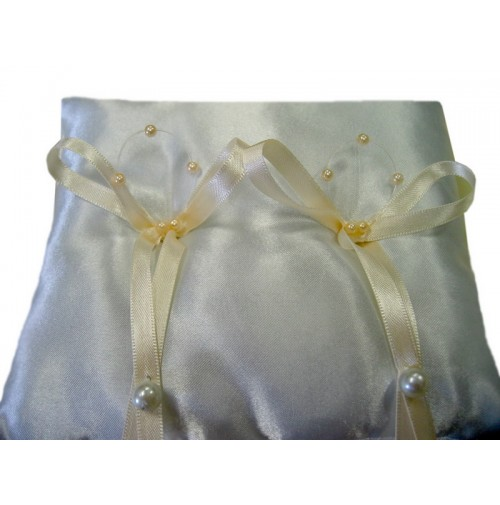 Poročna blazinica - bež/kvadrat