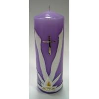 Poročna sveča - lila