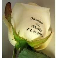 Potiskano cvetje - vrtnica/poroka