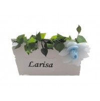 Kartica za sedežni red - vrtnica/modra