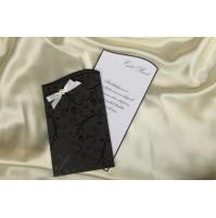 Vabilo - črna z belo pentljo